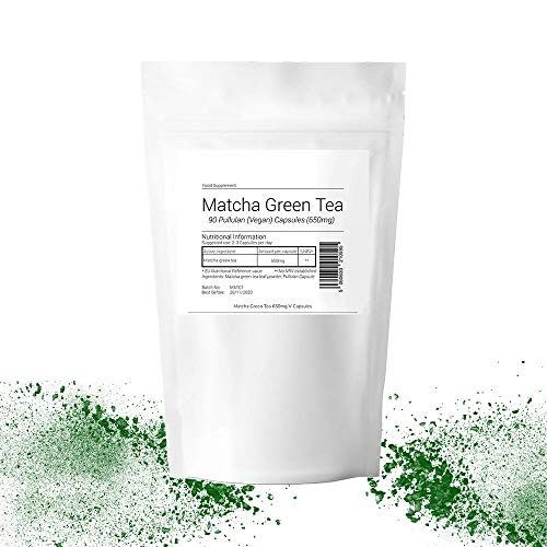 Matcha Green Tea 650mg 360 Capsules (4 Month Supply) Suitable for Vegan Vegetarian Halal Kosher Organic Detoxifying, Energizing & Rejuvenate