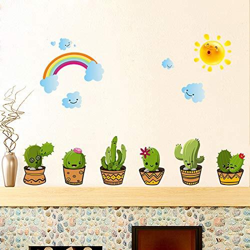 Wrattenmuursticker Mooie planten en bloemen Plakken Schilderij Woonkamer Raamdecoratie Wallpaper 45 * 60 cm