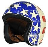 Origine Helmets Origine Primo Old Glory – Casco de moto, blanco, talla M