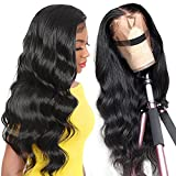 TUNEFUL 10A Human Hair Wigs 13x4 Lace Front Wigs Human Hair Wigs for Black Women Brazilian Body Wave Frontal Wigs Human Hair Pre Plucked Bleached Knots with Baby Hair 16 Inch 150% Density Wig