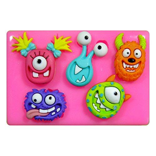 Frech Monster Silikon Form für Kuchen Dekorieren, Kuchen, kleiner Kuchen Toppers, Zuckerglasur Sugarcraft Werkzeug durch Fairie Blessings