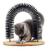 Peluquero para Gatos Cat Shoeninging, Gato Plegable Masajeador De Autoservicio, 3 En 1 Arco De Gato Funcional