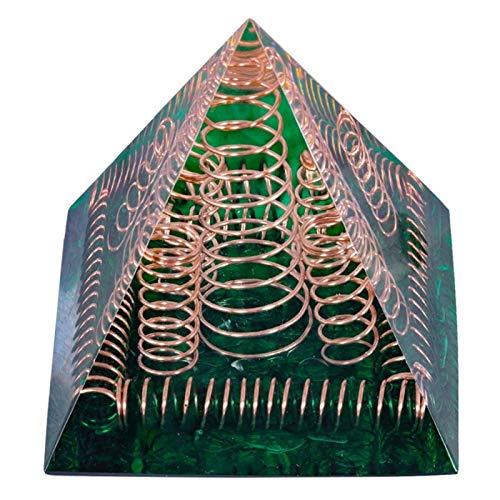 ZTTT Kristallkupferdrahtpyramide Steinfigur (Color : Green)