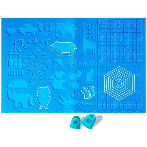GIANTARM plantilla para lápiz de impresión 3D,Pluma de Impresión 3D accesorios,con una variedad de patrones, adecuado para principiantes, niños y amantes de los bolígrafos 3D (grande)