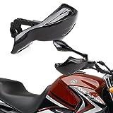 CLE DE Tous - Universal Plastico Guardamanos Handguards para Moto/Motocicleta Color Negro