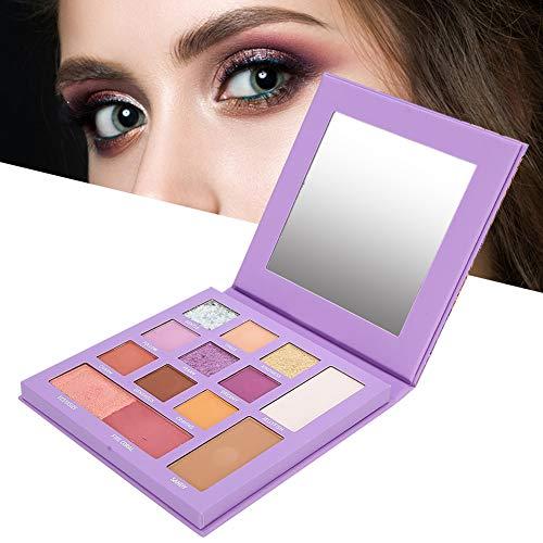 Eyeshadow Palette Makeup, 13 Colors Eyeshadow Matte Eyeshadow Pearlescent High Gloss Cosmetic Tool Long Lasting Waterproof