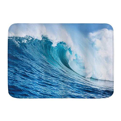 Fußmatten, Ocean Large Powerful Pacific Surf Sea Wave, Küchenboden Badteppichmatte Saugfähig Innen Badezimmer Dekor Fußmatte Rutschfest
