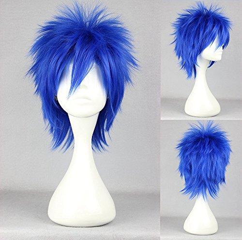 Ladieshair Cosplay Perücke Fairy Tail - Jellal Fernandes Blau 35cm