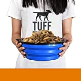 Tuff Pupper Extra Large XXL Collapsible Dog Bowl | Holds 100 oz Water or 12 Cups Dog Food | Convenient Dog Travel Bowl | Keeps Pups Hydrated and Full | Portable Dog Water Bowl & Travel Bowl for Pets