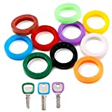 InterUS 40PCS Colorful Key Caps Plastic Key Identifier Covers Tags in 10 Different Colors
