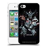 Head Case Designs Officiel Justice League DC Comics Héros Triangle Graphiques Électriques Foncés Coque Dure pour l'arrière Compatible avec iPhone 4 / iPhone 4S