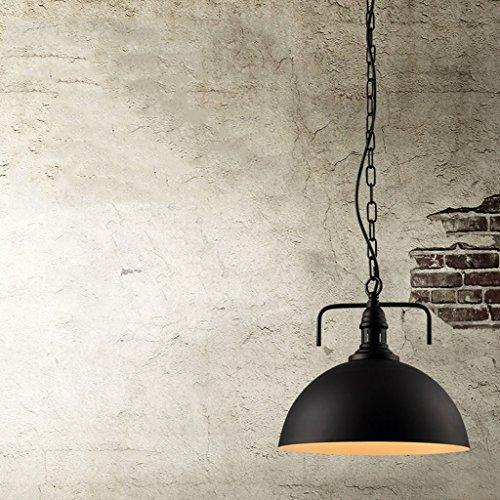 Lustre à vent industriel (couleur : Noir, taille : 40 * 38 * 10cm)