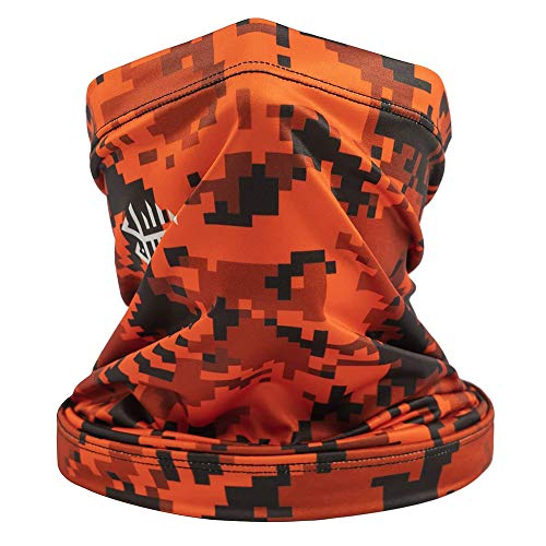 chebao Neck Multifunction Headwear,Windproof Neck Gaiter Scarf,Neck Tube Sunscreen Headbands, Outdoor Sports Cycling Scarf Breathable Neck Gaiters Bandana (Orange) for Men Women Outdoors Cycling