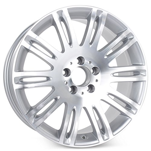 New 18' x 8.5' Alloy Replacement Wheel for Mercedes E350 E550 2007 2008 2009 Rim 65432 Machined W/Silver
