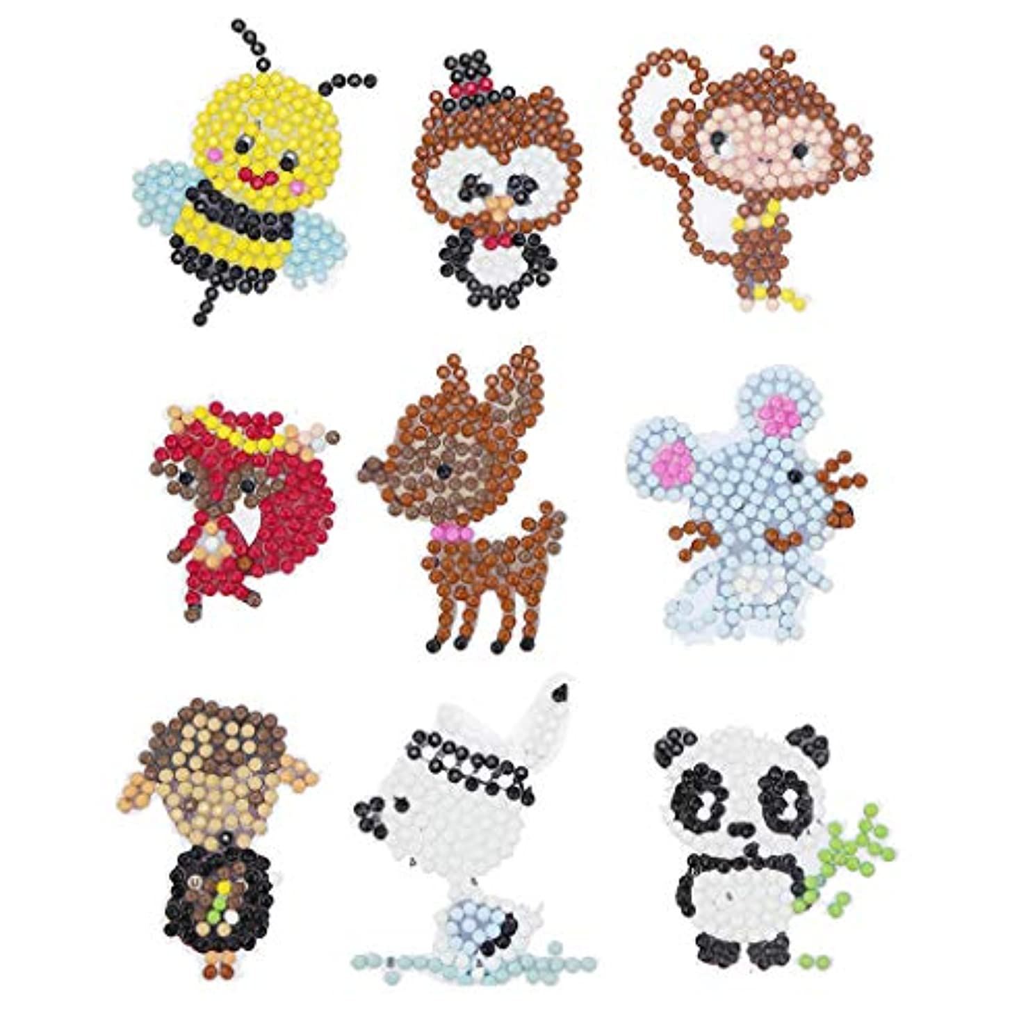 Homokea 5D DIY Diamond Dotz for Kids Full Drill Diamond Painting Pictures Diamond Art Kits (Small Animals)