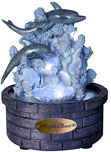 Newport Coast Collections Playful Dolphins LED Fountain Adapter