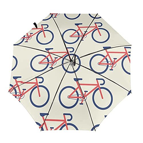 Diseño automático ligero ligero compacto portátil del paraguas plegable de la bicicleta de la historieta y alta resistencia al viento