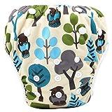 Topgrowth Cover Pannolini Lavabili Neonato Bambini Riutilizzabili Costumi da Bagno Carino Stampato Pantaloni da Nuoto per 0-3 Anni (33)