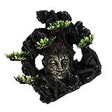 PATKAW Decoración de Casa de Acuario Estatua Budista Casa Artificial Piedra Zen Paisaje Cueva Pecera Ornamento para Betta Descanso Ocultar Juego