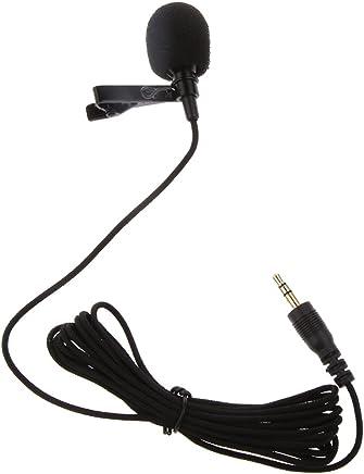 ShopAIS Black Mini Lavalier Lapel Mic Microphone for Voice Chat, Video Conferencing & Recording