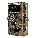 [2021 Actualizado] Cámara de Caza Cámara de Vida Silvestre con 20MP 1080P Visión Nocturna, 0.1s Velocidad de Disparo IP66 a Prueba de Agua, 120° Sensor de Movimiento de ángel Activado 36pcs LED