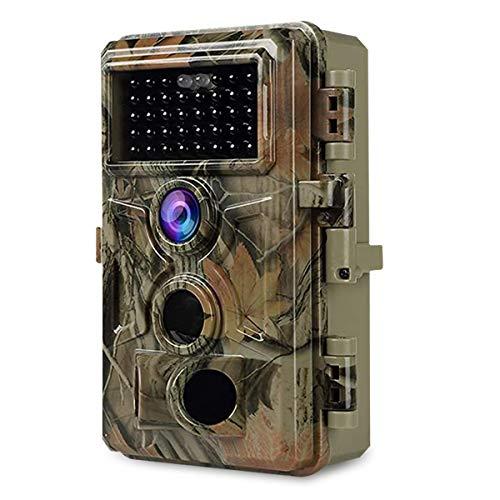 Wildkamera Nachtsicht Jagd Kamera 24MP Foto 1296P H.264 Video mit Unsichtbares Blitz, Bewegungmelder IP66 wasserdichte und 0.1S Auslösungswindigkeit