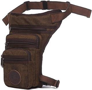 RANRANHOME Militär taktisk droppe benväska, kanvas slitage benväska retro mäns fickor axel diagonalt paket, ridning resor ...
