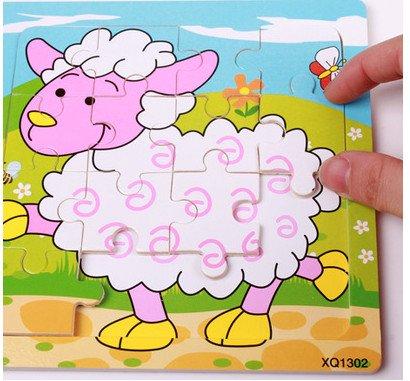 新品!動物 羊 16ピース  木製のおもちゃ パズル 誕生日のプレゼント  おもちゃ 知育玩具  幼児教育アプリシリーズ  知識を増すおもちゃ雑貨  木制品 zqzb0258-21