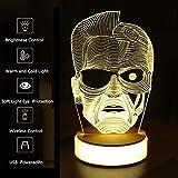 EFGS Lámpara Visual 3D Ilusión óptica Luz De Noche LED, Increíble Stepless Dimming Cápita Lámparas De Interruptor Sensibles Al Tacto, Carga USB para Decoración del Hogar