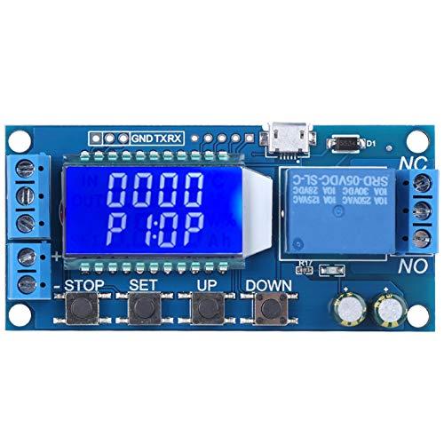 Disparador de ciclo Temporizador de retardo Circuito de interruptor Módulo de relé electrónico Apagado retardado XY-LJ02, Módulo de temporización de bucle con pantalla LCD, Con aislamiento
