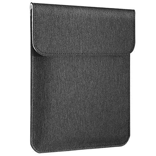 スリーブケース ATiC 7-8インチタブレット用 iPad Mini 5 7.9インチ,iPad mini 4/3/2/1,HUAWEI MediaPad M5 lite 8.0,Vankyo タブレット 7,ALLDOCUBE iPlay8 Pro 8,Dragon Touch タブレット 7 に対応 ポリエステル製 7-8インチタブレットPC用封筒形収納カバー 磁石式開口部 内部フランネル Dark Gray
