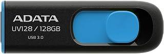 ADATA USA UV128 128 GB High-Speed USB 3.0 Capless USB Flash Drive, Blue/Black (AUV128-128G-RBE) [並行輸入品]