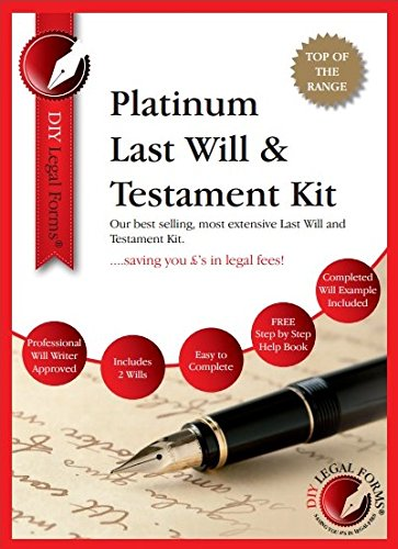 PLATINUM LAST WILL AND TESTAMENT KIT 2020-21. 'Top of the range' DIY Will...