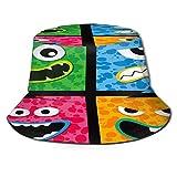 PUIO Sombrero de Pesca,Cara de Personaje de Monstruo Colorido Arte Vectorial,Senderismo para Hombres y Mujeres al Aire Libre Sombrero de Cubo Sombrero...