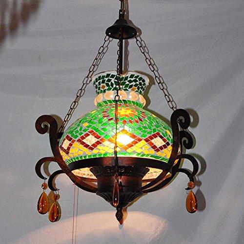 TUNBG Bohemian Lights Moroccan Lights Pendelleuchte Mosaik Kronleuchter Glas Kronleuchter Lichter Vintage Pendelleuchte Restaurant Pendelleuchte