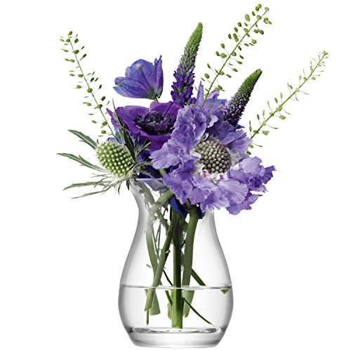 LSA International 9,5 cm Flower Mini Blumenvase, transparent