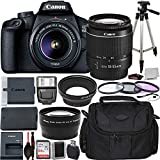 Canon EOS 4000D DSLR Camera with EF-S 18-55mm f/3.5-5.6 III Lens Advanced Bundle - Includes: Extended Life LPE10 Replacement Battery, 50' Gripster Tripod & More