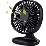 Kakuru USB Desk Fan Strong Wind Cooling Fan with Adjustable Head, Quiet Portable Fan for Desktop Office Table, 3 Speeds, Mini Size Table Fan Computer Fan for Home Outdoor Travel