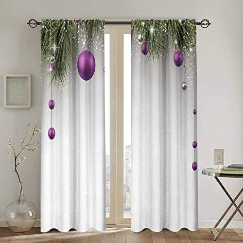 DIYAB Cortinas, decoración navideña, Sala de Estar, Dormitorio, Cortinas de Ventana, 2 Paneles, 104 Pulgadas x 72...