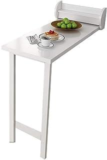 JFFFFWI Table Rabattable Murale intégrée avec étagère de Rangement, Table de Salle à Manger Invisible pour 4 Personnes pou...