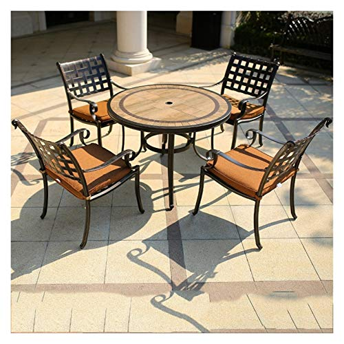 DYYD Bistro Table Bistro Table Set, Antique Bronze Rose 5 Piece, Outdoor Patio Table and Chairs Furniture, Durable Rust Weather Resistance Garden Furniture Sets