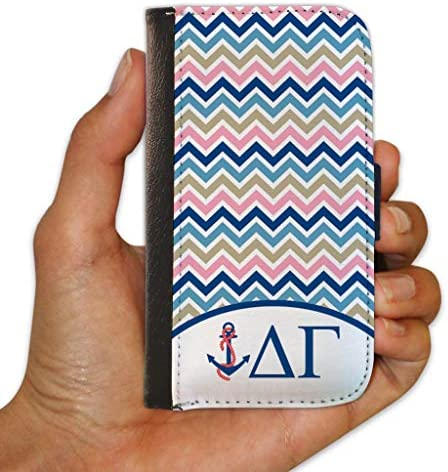 VictoryStore Cellphone Cover Protective Wallet Case Compatible with iPhone 6 Chevron Stripes product image
