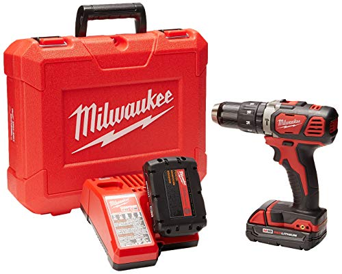 Milwaukee M4 2607-22CT Rotomartillo Inalámbrico 1/2' 18 V Vvr 450-1800 Rpm 0-28800 Gpm 2 Bat M18 Carg Caja Plas