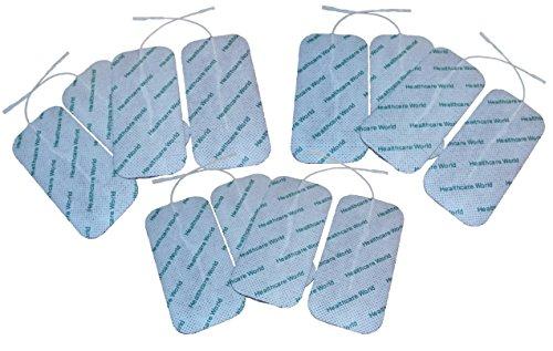 Grandes électrodes autocollantes x 12 Pour Appareil d'électrothérapie TENS EMS par Healthcare World