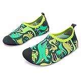 JOINFREE Niños Niñas Nadar Zapatos para el Agua Deportes acuáticos Calcetines Zapatillas Zapatos para la Piscina (Dinosaurio,34-35)