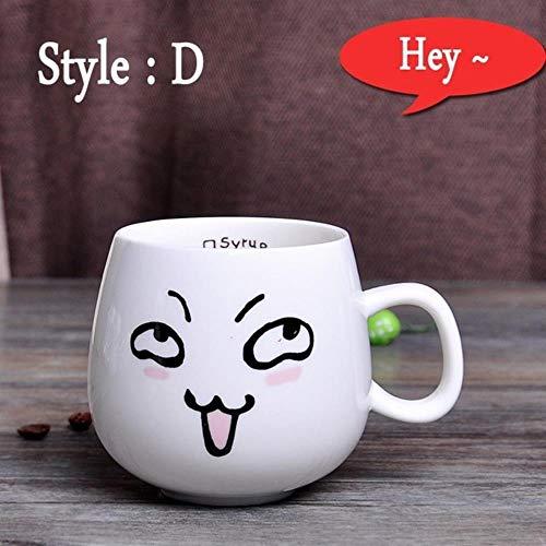 SINS 320 ML Expression Mignonne Tasses en Céramique Tasses De Récipient d'eau Et Tasses Porcelaine Tasse À Thé Tasse De Café, C