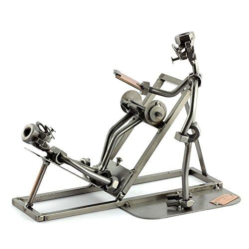 Steelman24 I Schraubenmännchen Fitness-Trainer I Made in Germany I Handarbeit I Geschenkidee I Stahlfigur I Metallfigur I Metallmännchen