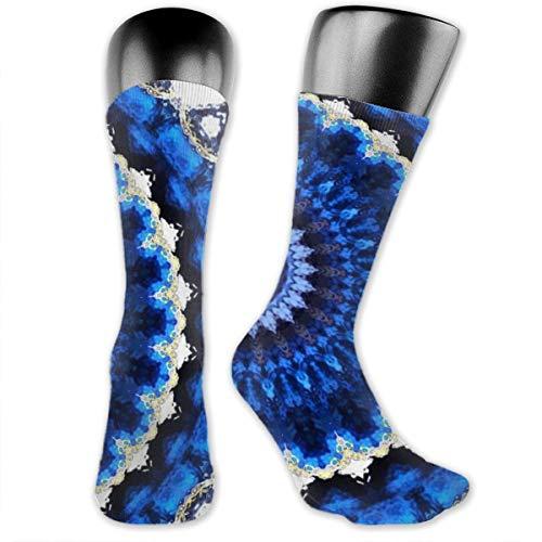 Derretir colorido patrón calcetines casuales unisex caliente gruesa rodilla alta deporte compresión calcetines
