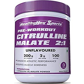 HealthyHey Sports Citrulline Malate 2:1-200 g, 100 Servings (Unflavoured)