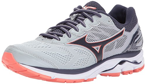 Mizuno Women's Wave Rider 21 Running Shoe Athletic Shoe, high rise/gray stone, 9.5 D US